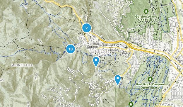 Manitou Springs, Colorado Nature Trips Map