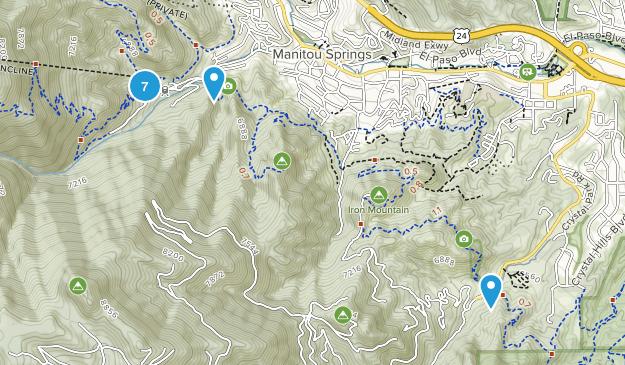 Manitou Springs, Colorado Wild Flowers Map