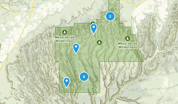 Mesa-Verde-Nationalpark, Colorado Bird Watching Map