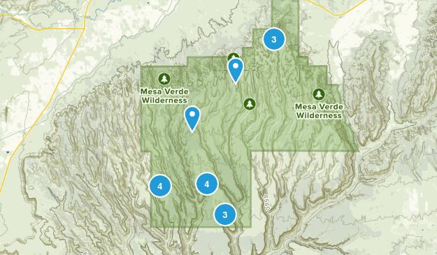 Mesa Verde National Park, Colorado Hiking Map
