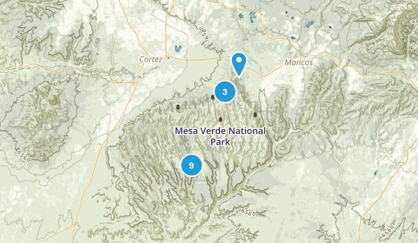 Mesa Verde National Park, Colorado Nature Trips Map