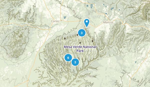 Mesa Verde National Park, Colorado Walking Map