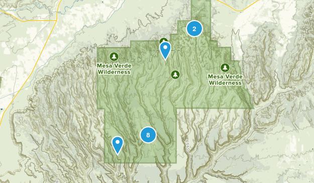 Mesa Verde National Park, Colorado Wild Flowers Map