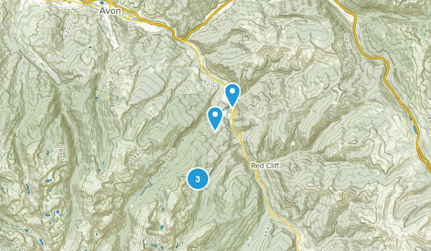 Minturn, Colorado Backpacking Map