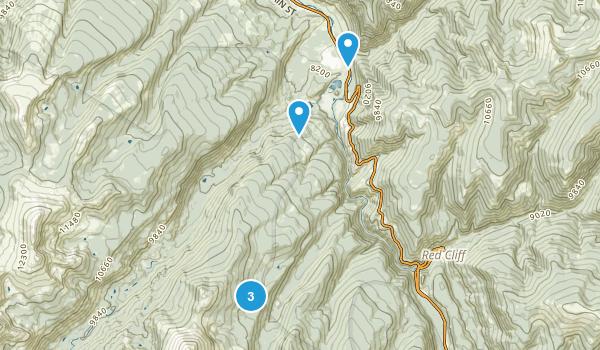 Minturn, Colorado Camping Map