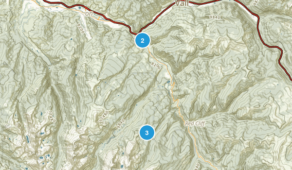 Minturn, Colorado Snowshoeing Map