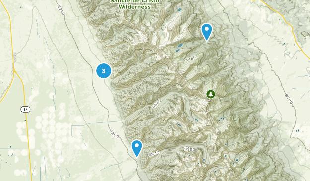 Moffat, Colorado Hiking Map
