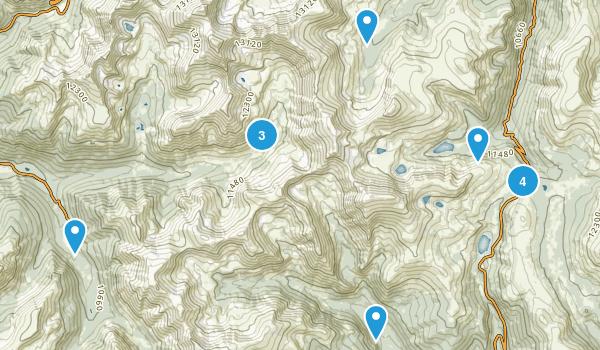 Montezuma, Colorado Hiking Map