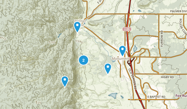 Monument, Colorado Hiking Map