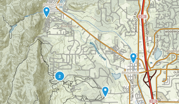 Monument, Colorado Trail Running Map