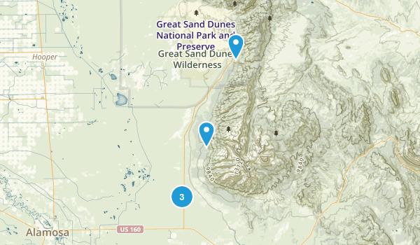 Mosca, Colorado Lake Map