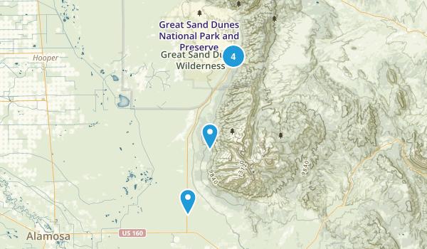 Mosca, Colorado Mountain Biking Map