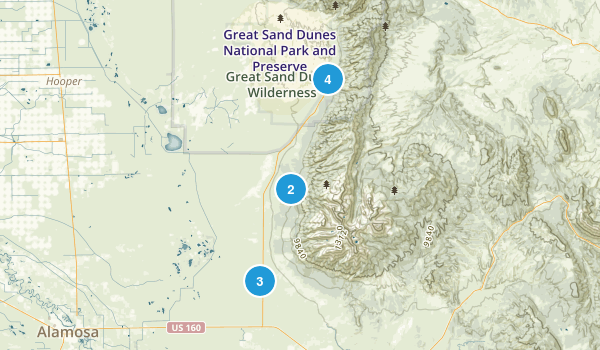 Mosca, Colorado Trail Running Map