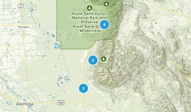 Mosca, Colorado Wild Flowers Map