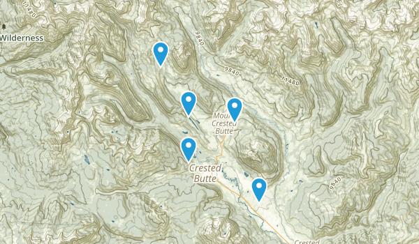 Mount Crested Butte, Colorado Birding Map