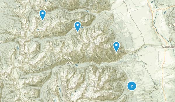 Nathrop, Colorado Camping Map