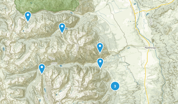 Nathrop, Colorado Camping Map