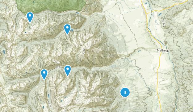 Nathrop, Colorado Fishing Map