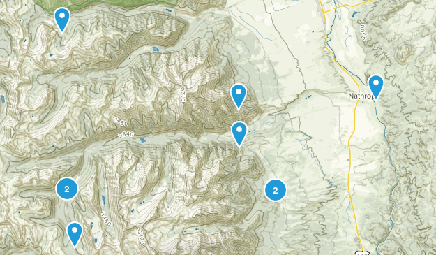 Nathrop, Colorado Trail Running Map