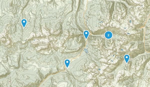Ophir, Colorado Snowshoeing Map