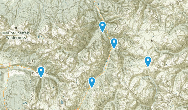 Ouray, Colorado Off Road Driving Map