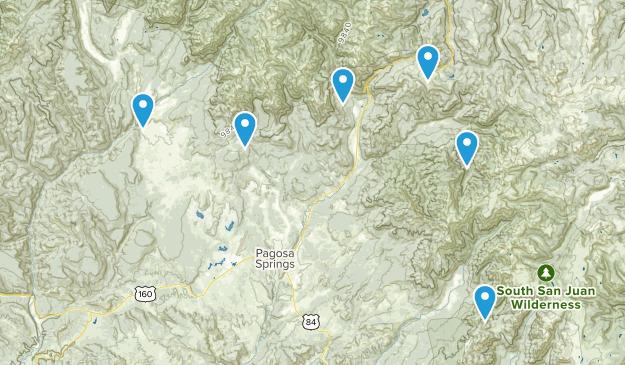 Pagosa Springs, Colorado Horseback Riding Map