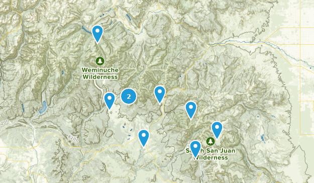 Pagosa Springs, Colorado River Map