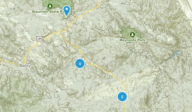 Pine, Colorado Mountain Biking Map