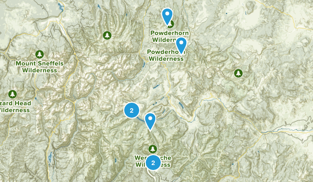 Powderhorn, Colorado Hiking Map
