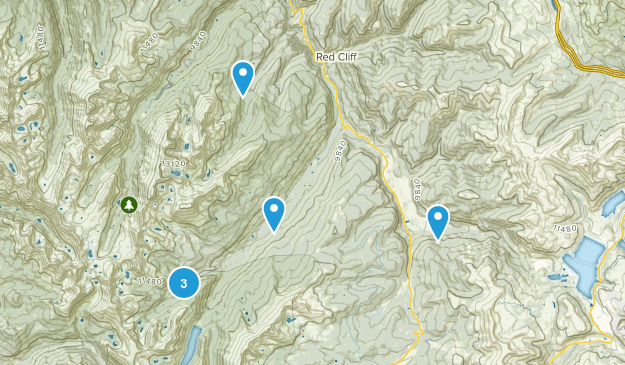 Red Cliff, Colorado Backpacking Map