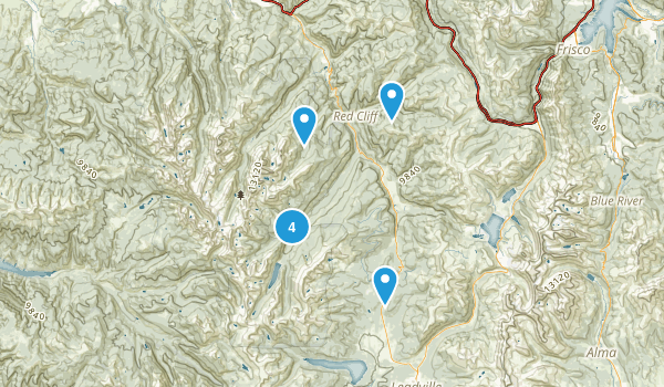 Red Cliff, Colorado Dogs On Leash Map