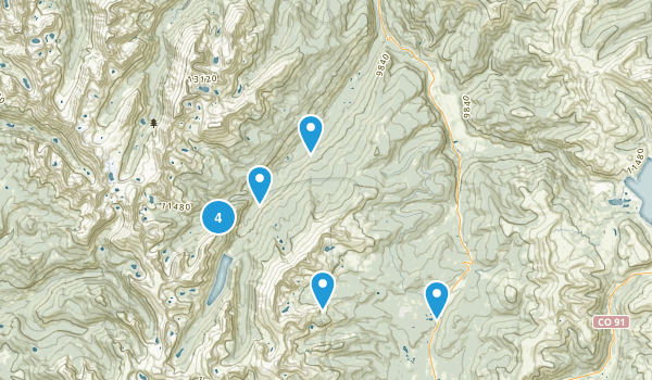 Red Cliff, Colorado Lake Map