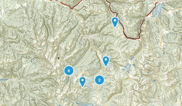 Red Cliff, Colorado Walking Map