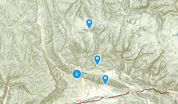 Rifle, Colorado Hiking Map
