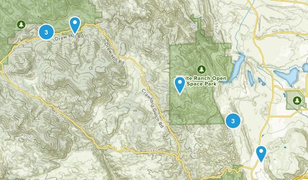 Rocky, Colorado Trail Running Map