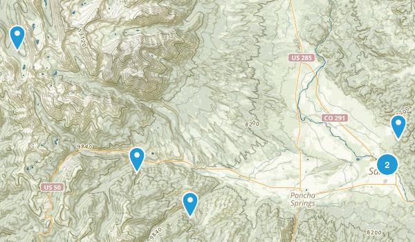 Salida, Colorado Trail Running Map