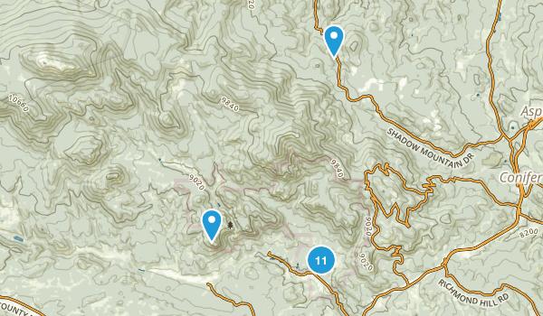 Shaffers Crossing, Colorado Hiking Map