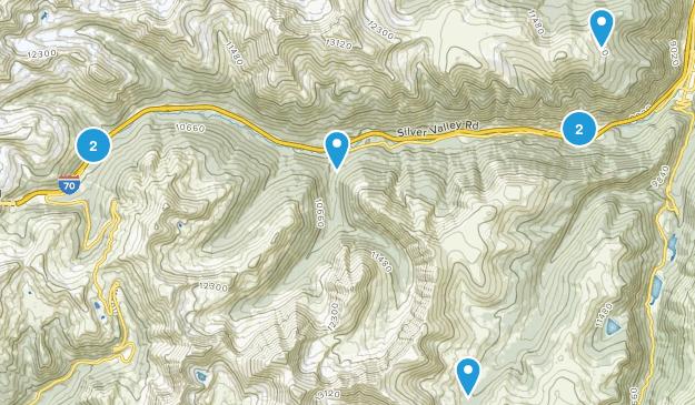 Silver Plume, Colorado Hiking Map