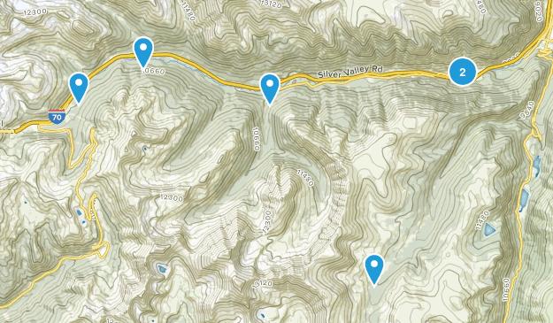 Silver Plume, Colorado Views Map