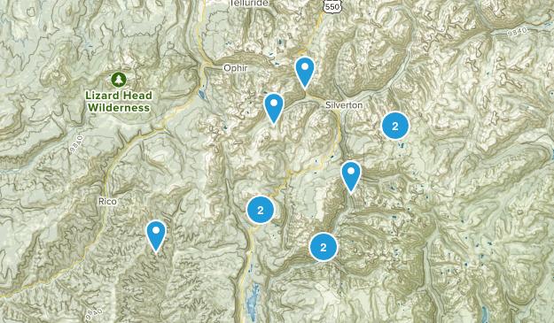 Silverton, Colorado Camping Map