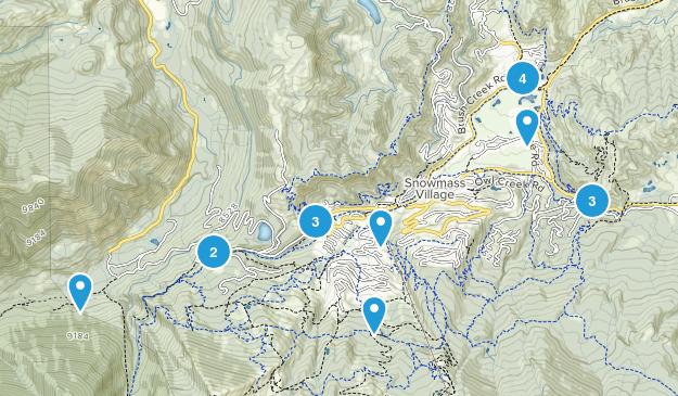 Snowmass Village, Colorado Hiking Map