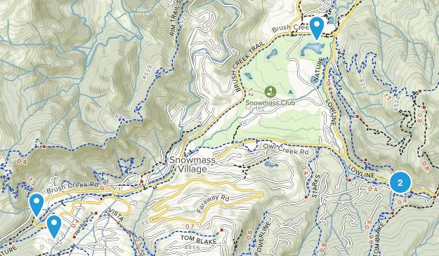 Snowmass Village, Colorado Mountain Biking Map