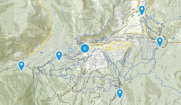 Snowmass Village, Colorado Nature Trips Map