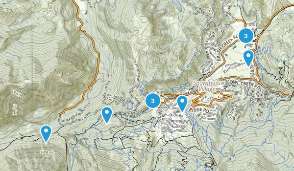 Snowmass Village, Colorado Trail Running Map