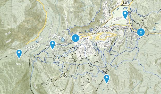 Snowmass Village, Colorado Walking Map