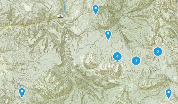 Somerset, Colorado Hiking Map