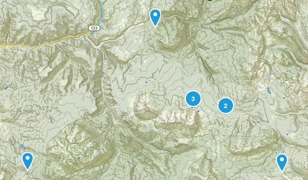 Somerset, Colorado Nature Trips Map