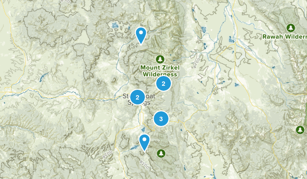 Steamboat Springs, Colorado Dog Friendly Map