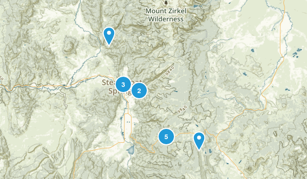 Steamboat Springs, Colorado Trail Running Map
