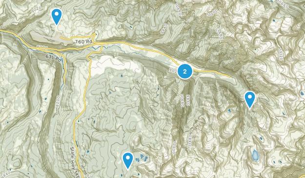 Telluride, Colorado Camping Map